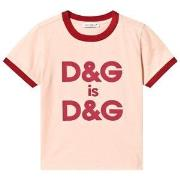 Dolce & Gabbana Pink Double Logo Tee 6 years
